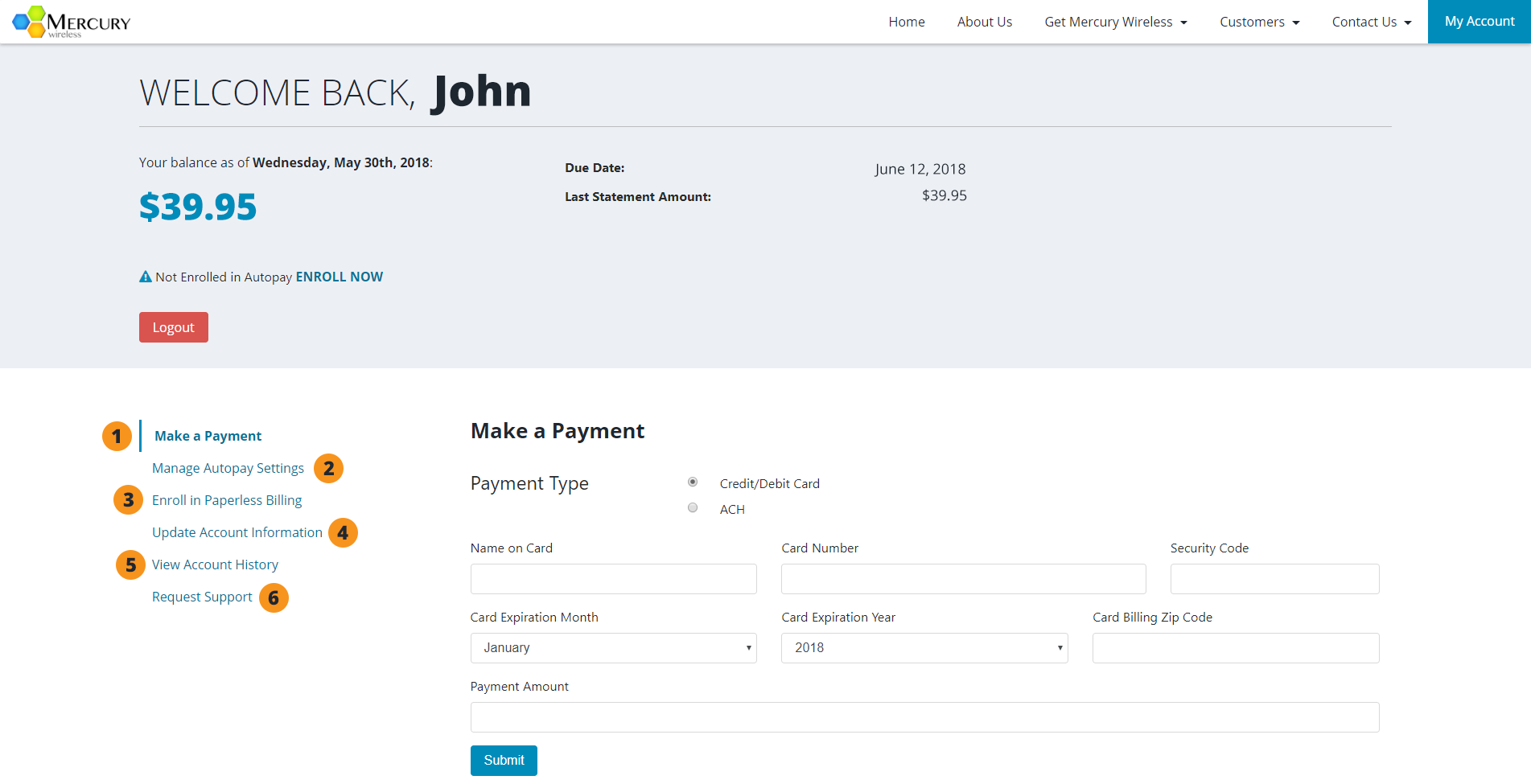 4 You Are Now Logged Into Your Account And Can Update Billing Preferences Make Paymentore